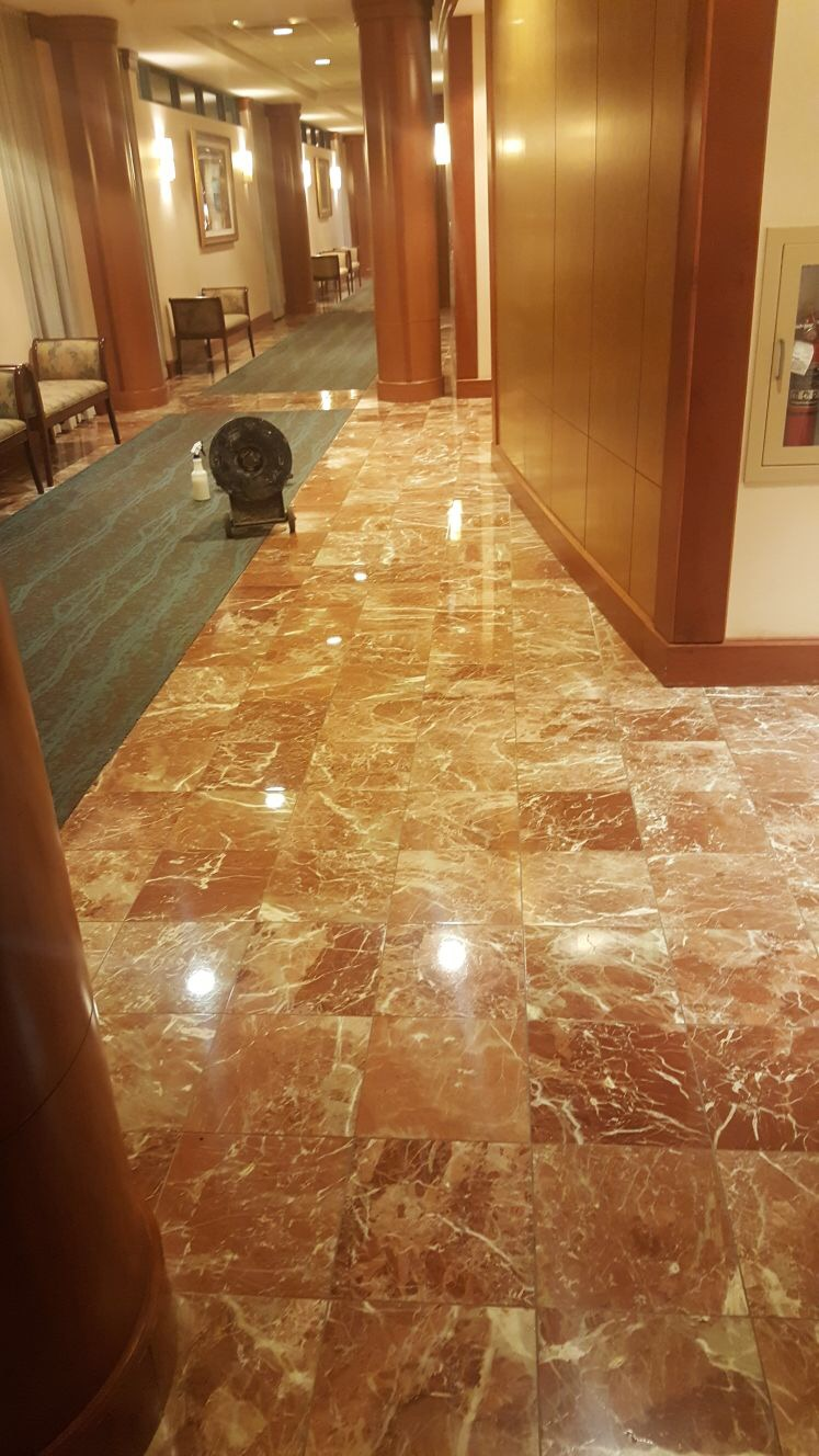 Orange Marble Polishing