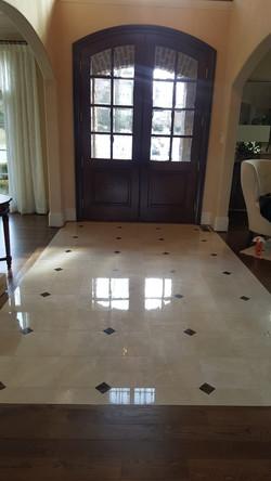 Marble Entrance Polishing
