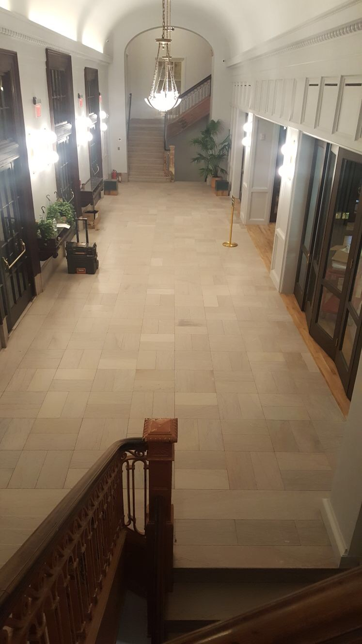 Marble Floor Hone Finish