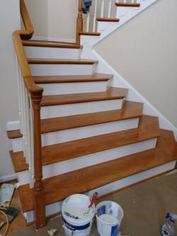 Hardwood Steps Refinishing
