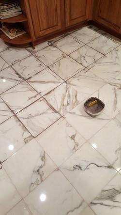 Re-grout floor