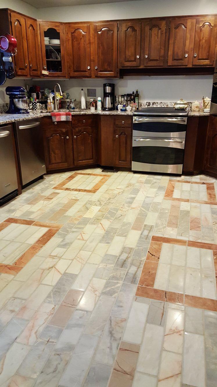 Kitchen Floor Polishing