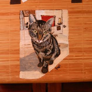 Custom Cat Painted