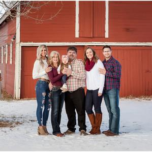 Olsgard Family  |  Snowy Barn Photo Session in Windsor, Colorado