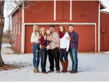Olsgard Family  |  Snowy Barn Photo Session in Windsor, Colorado