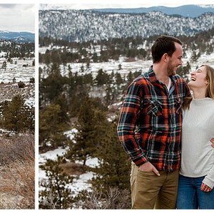 Dan & Jaime     Mountain Engagement Photography in Red Feather Lakes, CO
