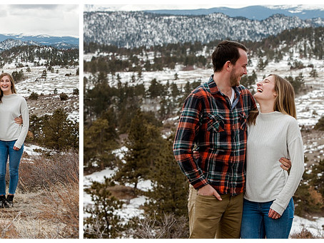 Dan & Jaime  |  Mountain Engagement Photography in Red Feather Lakes, CO