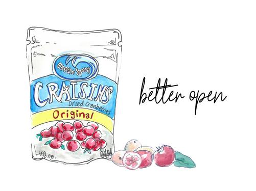 Better open - Craisins