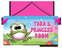 princess frog door sign