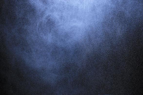 spray from the atomizer spray on black b