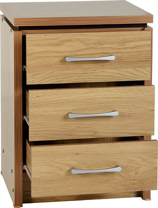 Henry - 3 Drawer Bedside Chest