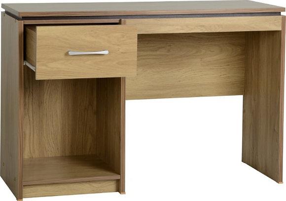 Henry Computer Desk (Oak Effect/Walnut Trim)