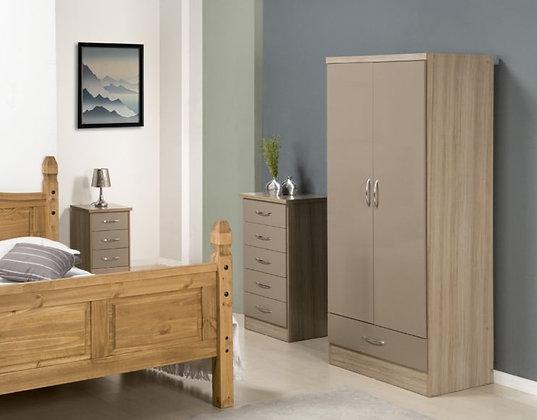 Wynn -  2 Door - 1 Drawer Wardrobe