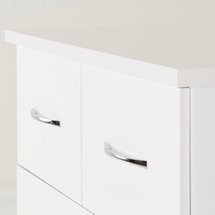 Wynn 3 + 2 Drawer Chest (White Gloss)