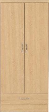 Wynn - 2 Door 1 Drawer Wardrobe (Sanoma Oak Effect)