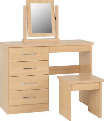 Wynn - 4 Drawer Dressing Table Set (Sanoma Oak Effect)
