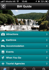 BiH tourist guide app