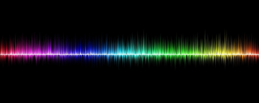 Visual Image of a spectrum of sound