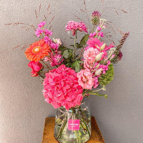 Bouquet avec vase