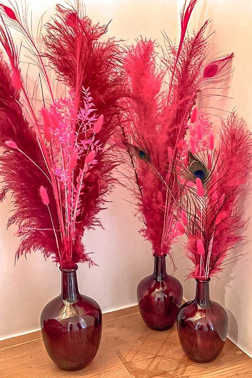 Vase et pampas