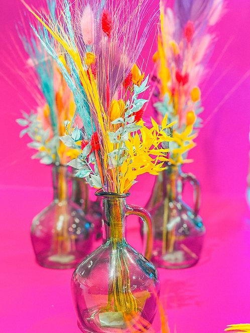 Fleurs séchées colorées
