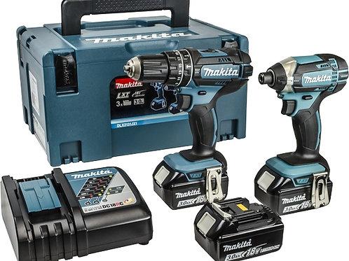 Makita DLX2131JX1 18V Li-ion LXT Combi and Impact Twin Kit (2 x 3.0ah Batteries)