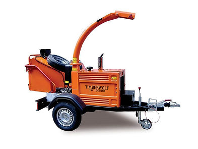 Clacton Tool Hire trailer mounted shredder chipper