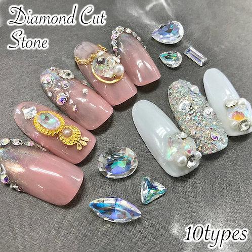 ダイアモンドカット・シャンデリア 多面カットストーン 10個入り 全10種類
