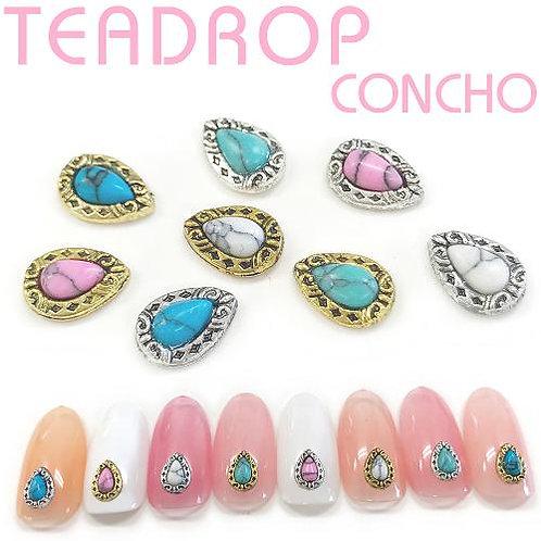 Concho Teardrop 1-1 (Gold×Blue)