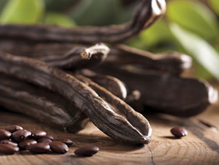 Looks like chocolate but it's not. Safe chocolate alternative for dogs.