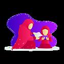 Illustration_mother_and_kid_girl_togethe