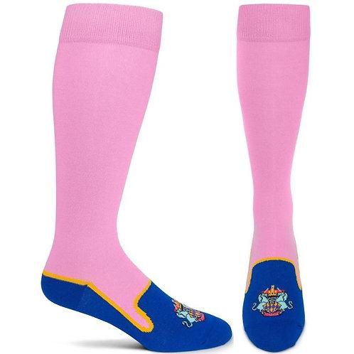 Heraldic Royalty Socks (Pink)