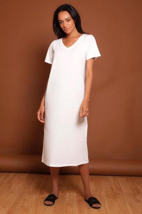 Basic White Tee Dress