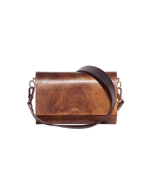Zisou Wooden Handbags (Caramel)