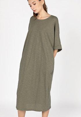 Olive Striped Weekender