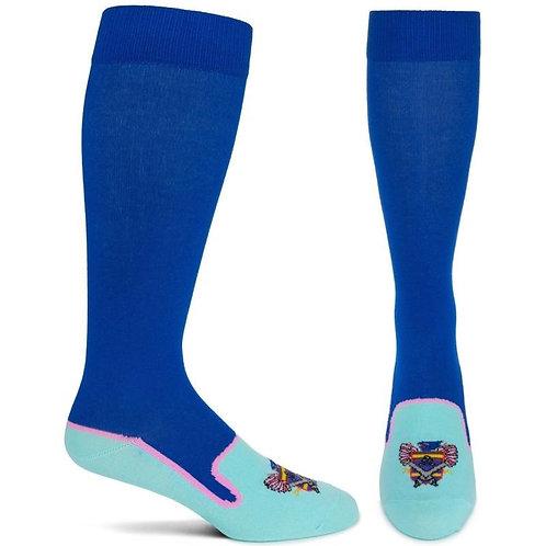 Heraldic Royalty Socks (Blue)