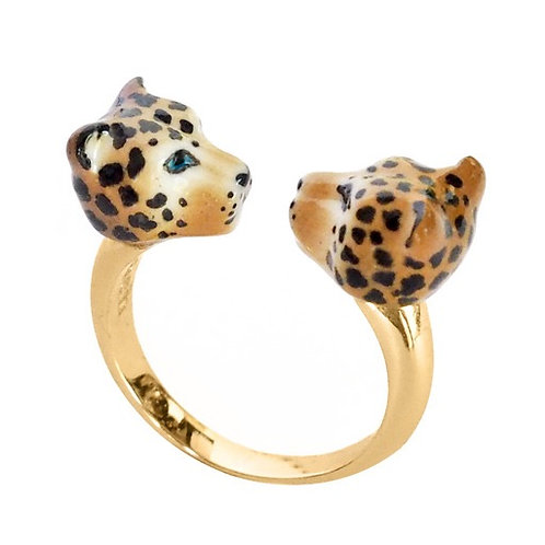 Kissing Leopards Ring