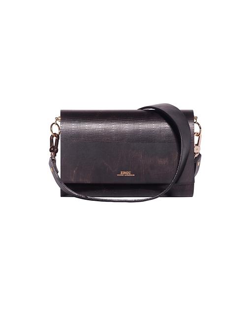Zisou Wooden Handbag (Ebony)