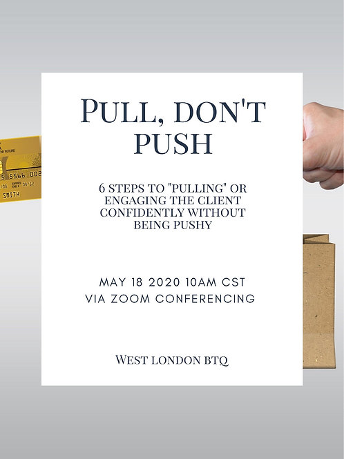 Pull, Don't Push