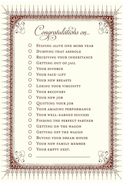 The Congrats Card