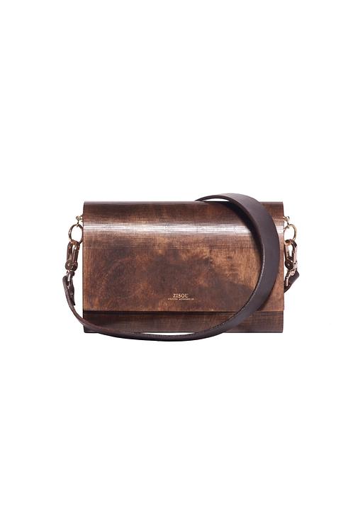 Zisou Wooden Handbag (Chocolate)