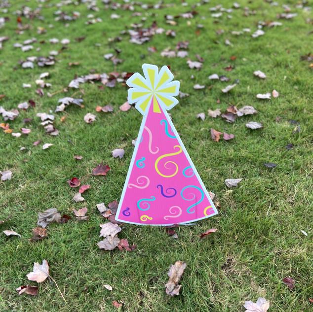 Pink Swirls Party Hat