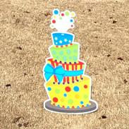 Stars-Stripes Blue Bow Cake