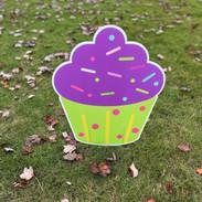 Purple-Green Cupcake