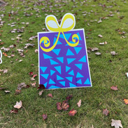 Purple Gift-Blue Triangles