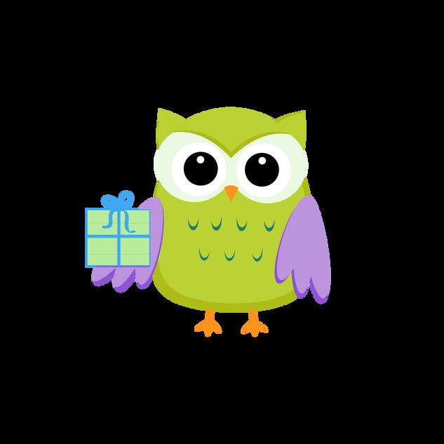 Owl W/Gift