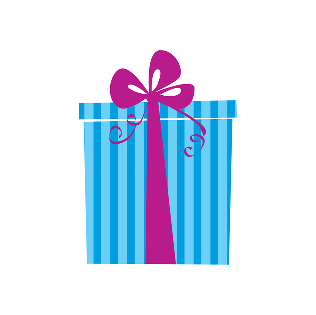 Blue Striped Gift