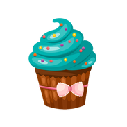 Turquoise Cupcake