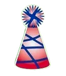 Red-Blue Party Hat