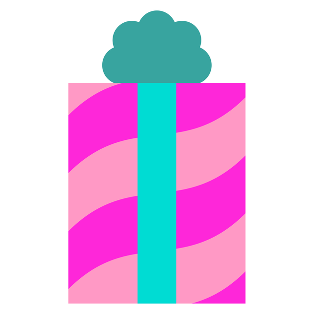Pink-Turquoise Gift